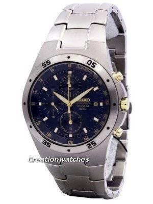 Seiko Titanium Two-tone Chronograph SND449 SND449P1 SND449P Men's Watch