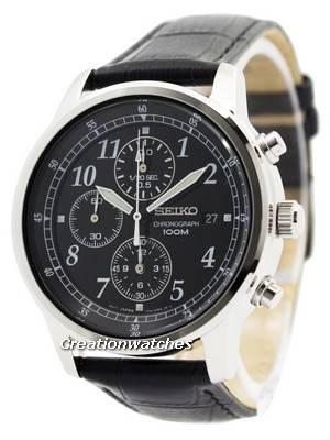 Seiko Cronógrafo SNDC33 SNDC33P1 SNDC33P Quartz Relógio Masculino