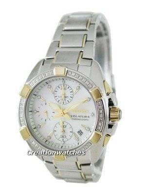 Seiko Velatura Chronograph SNDZ38P1 Ladies Watch with 53 Diamonds