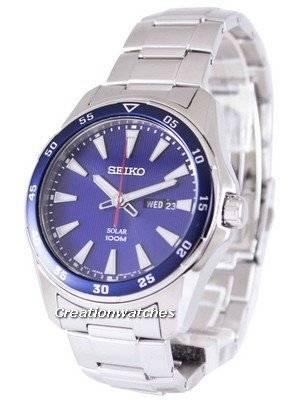 Seiko Solar 100M SNE391 SNE391P1 SNE391P Men's Watch