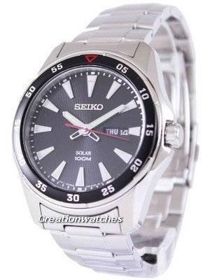 Seiko Solar 100M SNE393 SNE393P1 SNE393P Men's Watch