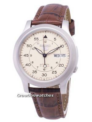 Seiko 5 Military SNK803K2-SS2 Automatic Brown Leather Strap Men\'s Watch