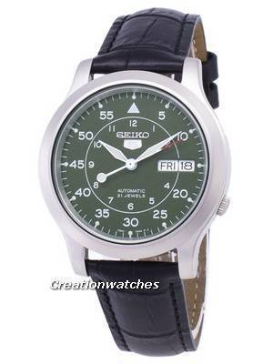 Seiko 5 Military SNK805K2-SS1 Automatic Black Leather Strap Men's Watch