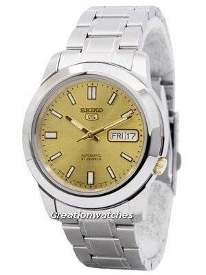 Seiko 5 Automatic 21 Jewels Japan Made SNKK15 SNKK15J1 SNKK15J Men's Watch