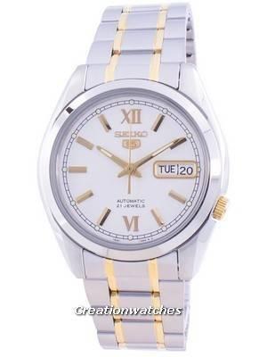 Seiko 5 Automatic White Dial SNKL57 SNKL57K1 SNKL57K Men\'s Watch
