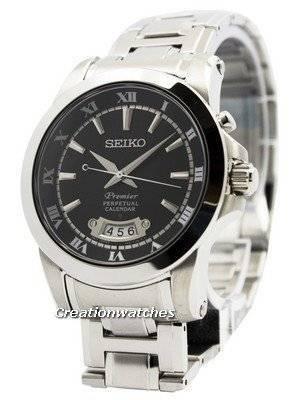 Relógio Seiko Premier Perpetual Calendário SNQ147 SNQ147P1 SNQ147P Men