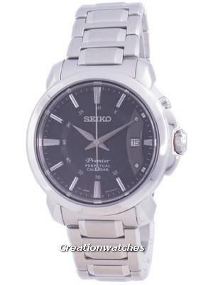 Seiko Premier Perpetual Calendar Quartz SNQ159 SNQ159P1 SNQ159P 100M Men\'s Watch
