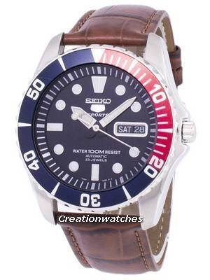 Seiko 5 Sports Automatic Ratio Brown Leather SNZF15K1-LS7 Men's Watch