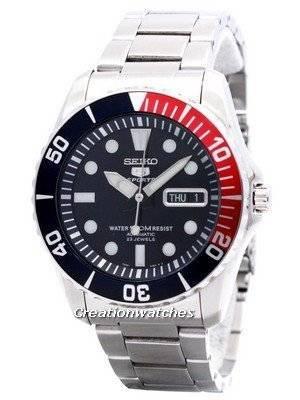 Seiko Automatic Divers 23 Jóias 100m Relógio SNZF15 SNZF15K1 SNZF15K Relógio Masculino
