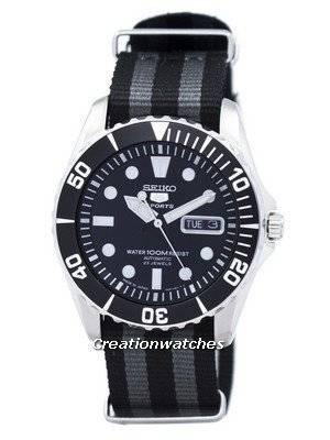 Seiko 5 Sports Automatic 23 Jewels NATO Strap SNZF17J1-NATO1 Men\'s Watch
