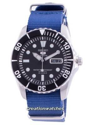 Seiko 5 Sports Automatic SNZF17J1-var-NATO8 100M Japan Made Men\'s Watch