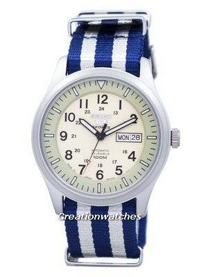 Seiko 5 Sports Military Automatic Japan Made NATO Strap SNZG07J1-NATO2 Men's Watch