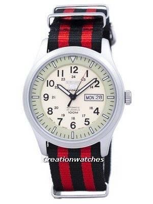 Seiko 5 Sports Military Automatic Japan Made NATO Strap SNZG07J1-NATO3 Men's Watch