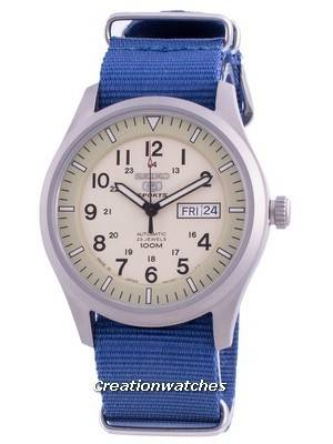 Seiko 5 Sports Military Automatic SNZG07J1-var-NATO8 100M Japan Made Men\'s Watch