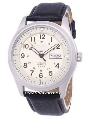 Seiko 5 Sports Automatic Ratio Black Leather SNZG07K1-LS10 Men's Watch
