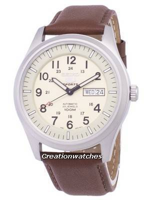 Seiko 5 Sports Automatic Ratio Brown Leather SNZG07K1-LS12 Men's Watch