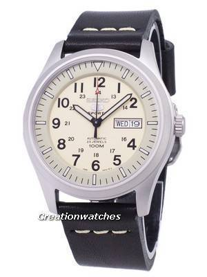 Seiko 5 Sports SNZG07K1-LS14 Automatic Black Leather Strap Men's Watch