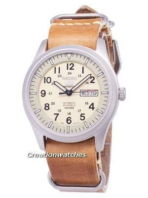 Seiko 5 Sports SNZG07K1-LS18 Automatic Brown Leather Strap Men's Watch