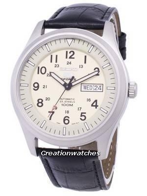 Seiko 5 Sports Automatic Ratio Black Leather SNZG07K1-LS6 Men's Watch