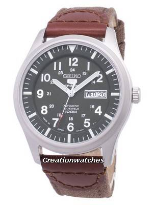 Seiko 5 Sports Automatic Japan Made Canvas Strap SNZG09J1-NS1 Men's Watch