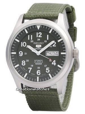 Seiko 5 Esportes Automáticos Militares Japão Fez SNZG09 SNZG09J1 SNZG09J Relógio Masculino