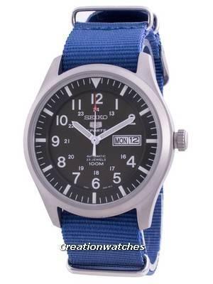 Seiko 5 Sports Military Automatic SNZG09K1-var-NATO8 100M Men\'s Watch