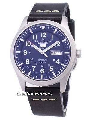 Seiko 5 Sports SNZG11J1-LS14 Automatic Black Leather Strap Men's Watch
