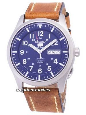 Seiko 5 Sports SNZG11J1-LS17 Automatic Brown Leather Strap Men's Watch