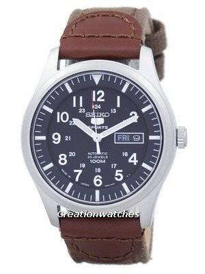Seiko 5 Sports Automatic Japan Made Canvas Strap SNZG15J1-NS1 Men\'s Watch