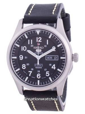 Seiko 5 Sports Black Dial Automatic SNZG15J1-var-LS16 100M Men\'s Watch