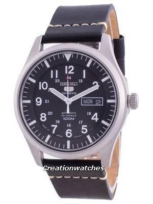 Seiko 5 Sports Black Dial Automatic SNZG15J1-var-LS20 100M Men\'s Watch