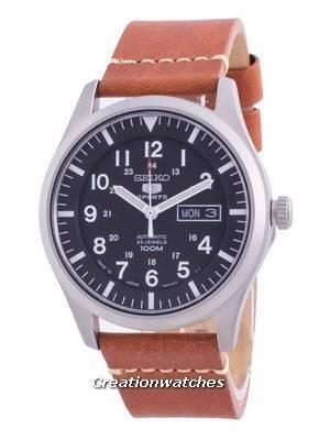 Seiko 5 Sports Black Dial Automatic SNZG15J1-var-LS21 100M Men\'s Watch