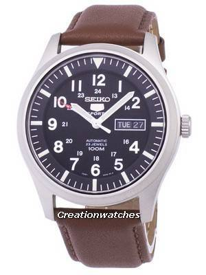 Seiko 5 Sports Automatic Ratio Brown Leather SNZG15K1-LS12 Men's Watch