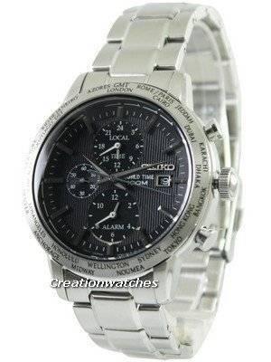 Seiko Alarm Chronograph World Time SPL049 SPL049P1 SPL049P Men's Watch