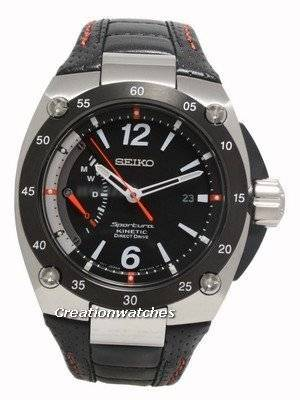 Seiko Men's Sportura Kinetic Direct Drive Watch with Leather Strap SRG005P2