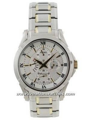 Seiko Premier SRL032P1 SRL032P SRL032 Men\'s Retrograde Day Indicator Watch