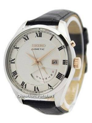 Seiko Kinetic Leather Strap SRN073 SRN073P1 SRN073P Men's Watch