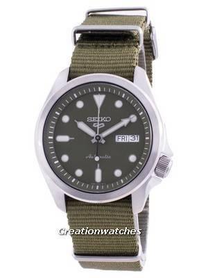 Seiko 5 Sports Green Dial Nylon Strap Automatic SRPE65 SRPE65K1 SRPE65K 100M Men\'s Watch