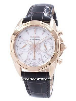 Seiko Chronograph Quartz Diamond Accent SRW784 SRW784P1 SRW784P Women's Watch