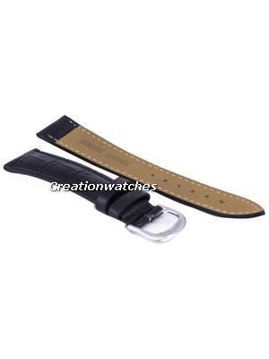 Black Ratio Brand Leather Strap 18mm