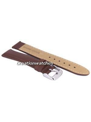 Correia de couro 18mm da marca da relação de Brown