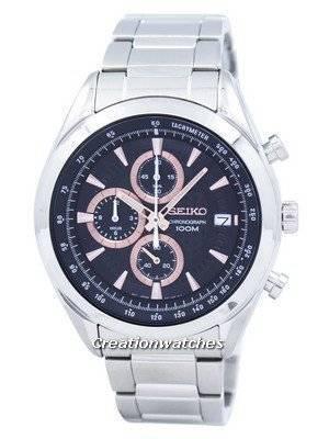Seiko Chronograph Quartz Tachymeter SSB199 SSB199P1 SSB199P Men's Watch