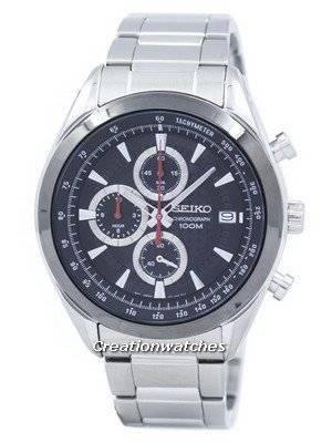 Seiko Chronograph Quartz Tachymeter SSB201 SSB201P1 SSB201P Men\'s Watch