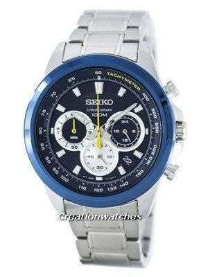 Seiko Chronograph Quartz Tachymeter SSB251 SSB251P1 SSB251P Men's Watch
