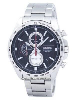 Seiko Chronograph Quartz Tachymeter SSB255 SSB255P1 SSB255P Men's Watch