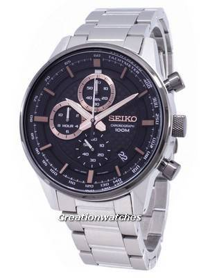 Seiko Chronograph SSB331 SSB331P1 SSB331P Quartz Men's Watch