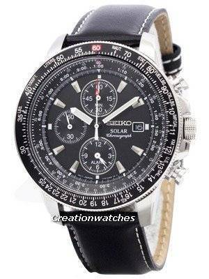 Seiko Pilot\'s Solar Chronograph Flightmaster SSC009P3 Men\'s Watch