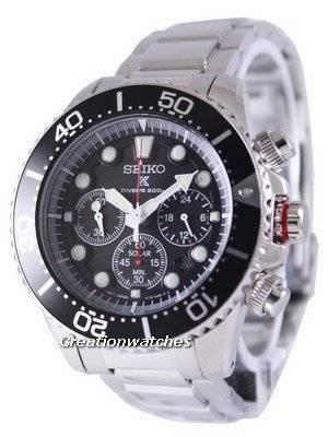 Seiko Solar Chronograph Divers SSC015 SSC015P1 SSC015P Men's Watch