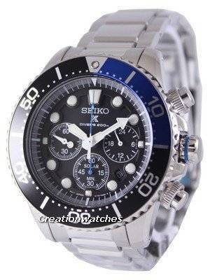 Seiko Solar Chronograph Divers SSC017 SSC017P1 SSC017P Men's Watch