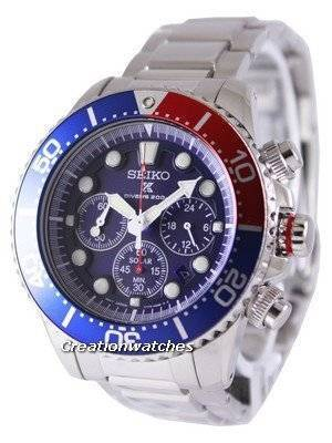 Seiko Solar Chronograph Divers SSC019  SSC019P1 SSC019P Men's Watch